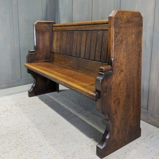 'Big End' Solid Oak Antique Church Choir Pew Bench