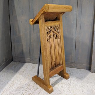 Unusual Roll Top Gothic Reading Desk Lectern Ambo