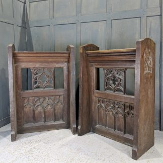 Large Vintage Gothic Oak Reading Desks Lecterns Ambos from St Matthews Birmingham