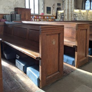 Antique Oak Church Pews Benches from the Medieval Church of St Giles, City of London
