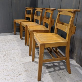 Set of 4 Original 1960 Atkins Ltd Army Church Chapel Chairs 'G'