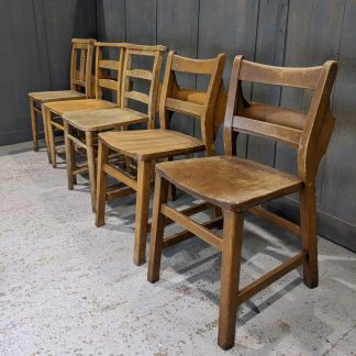 Collection of 5 Unmatching Church Chapel Chairs 'N'