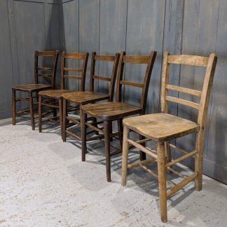 Harlequin Set of 5 Vintage School/Church Hall Chairs 'O'