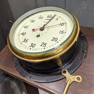 "Military Issue Vintage Smiths Astral Marine 8"" Ships Bulkhead Royal Navy Clock"