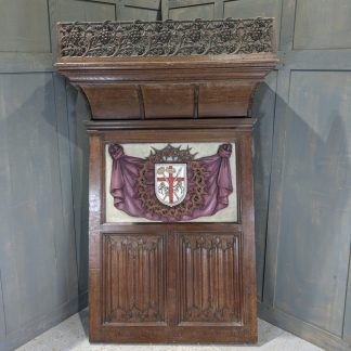 Highly Carved & Ornate Oak Antique Organ Panel Sounding Board Canopy from St Giles Cripplegate