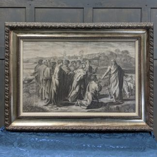 Early 18th Century Large Engraving of Christ's Charge to Peter by Sir Nicolas Dorigny