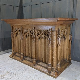 First Rate Late Gothic Carved Oak Church Altar from St Matthews Birmingham