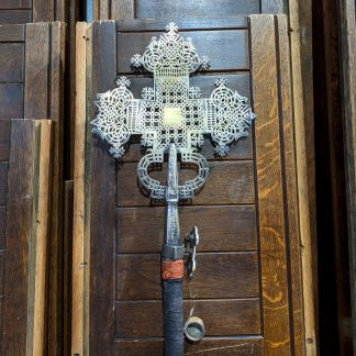 Genuine Coptic Silvered Processional Cross from St Patrick's North London