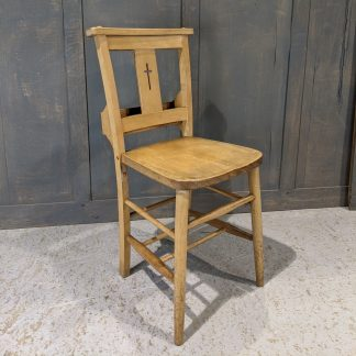 Farnham 1960's Vintage Pale Beech Crossback Church Chapel Chairs with Square Tops