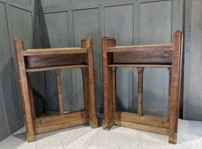 Vintage Oak 1920's Pair of Highly Carved Reading Desks, Lecterns, Ambos from Plymouth