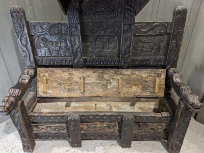 'The Thing' Huge Fantastical Plymouth Monks Bench made from 15th Century Timber