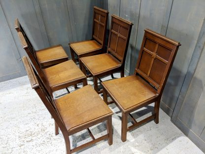 Duxford URC Set of 6 Vintage Oak Ministers Chairs
