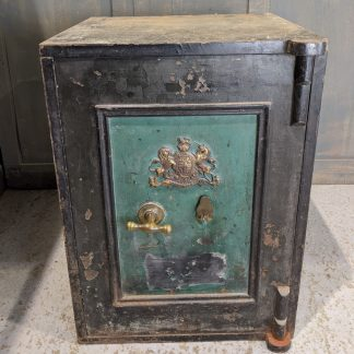 Antique 1870's Fire Resisting Safe Strong Box from Duxford URC
