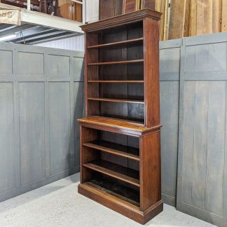 Tall Antique Victorian Mahogany Bookcase with Adjustable Shelves