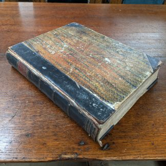 1871 Large Excellently Illustrated Leather Bound Book of Family Worship