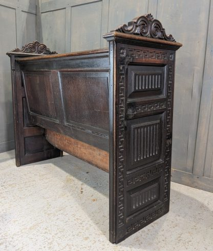Antique Georgian & Victorian Oak & Pine Carved Pews from Holy Trinity Leeds