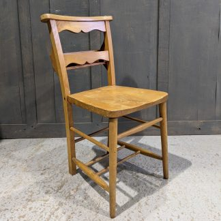 Vintage Wavy Back Pale Elm & Beech Church Chapel Chairs from Redhill URC