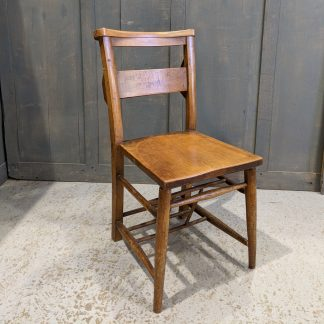 Late 1890's Antique Elm & Beech Church Chapel Chairs from St Peter's Staines
