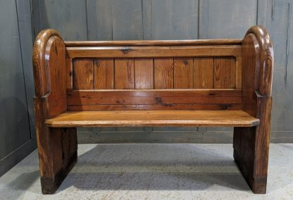 Antique Carved 1876 Pine Church Chapel Pews from St Clements, Oxford