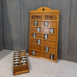 Vintage Oak Hymns & Tunes Board from St Peter's Newcastle Under Lyme