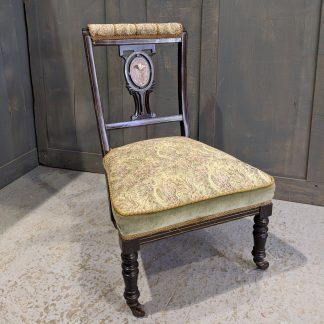 Unusual Victorian Bedroom Prayer Chair