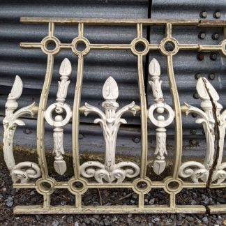 Long Run of Decorative Victorian Cast Iron Balcony Frontage Panelling Sections