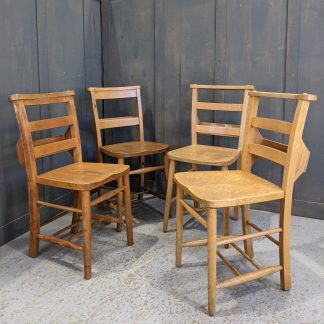 Harlequin Set of 4 Pale Beech Ladderback/Classic Church Chapel Chairs 'A'