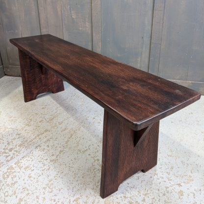 Made to Measure Oak Bench Made from Old Church Pew Seats