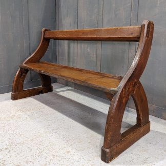 Antique Pine Scottish 'Y' Ended Church Chapel Bar Back Benches