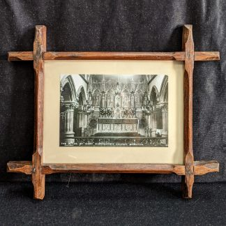Antique Photograph of the Altar, St Mary Magdalene Church Brighton