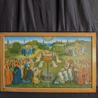 Antique Arundel Society Lithograph of The Adoration of the Lamb by the van Eyck Brothers 1432