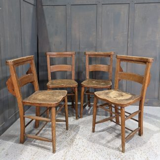 North Wales Distressed Character Driven Antique Church Chapel Chairs