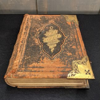 Large Victorian Leather Bound Illustrated National Family Bible
