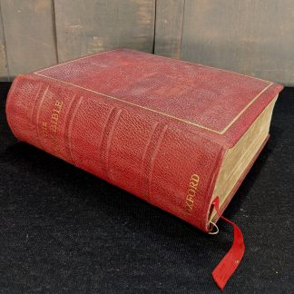 Large Red Leather Bound Church Lectern Oxford Bible