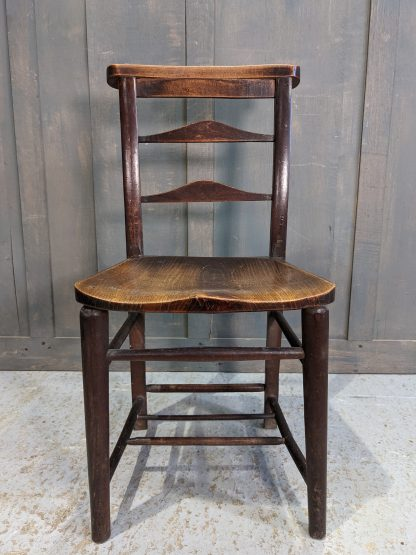 Rich Coloured Antique Ladderback Church Chapel Chairs from St Peter's Leicester