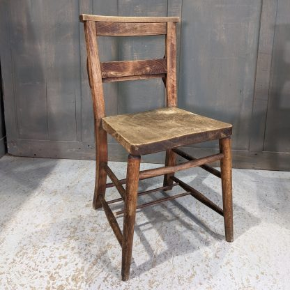Small Batch Weathered Looking Antique Chapel Chairs