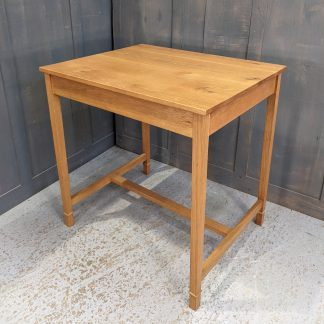 Pale Oak Mid 20th Century Small Church Communion/Dining Table for 2 or 4