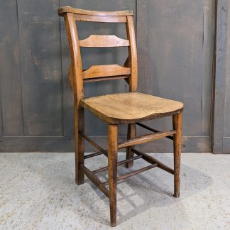 Strong & Heavy Antique Ladderback Church Chapel Chairs from St John's Furness Vale