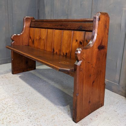 Late Victorian Pitch Pine Church Chapel Pews Benches from St George's, Worthing