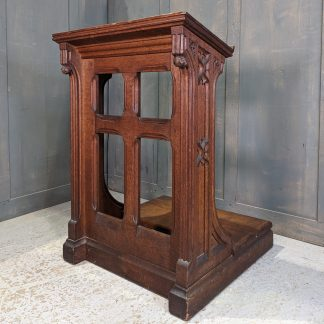 Very Good Quality Antique Oak Gothic Prayer Desk Prie Dieu from Fulwell