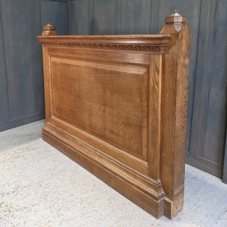Monumental Solid Carved Oak Church Organist Modesty Panel Panelling Screen
