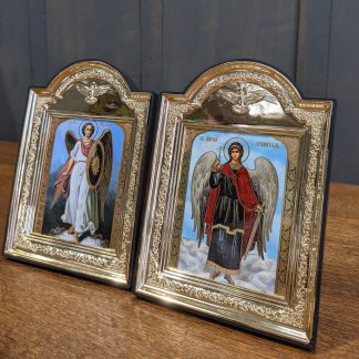 Two Medium Modern Icons - Two Archangels