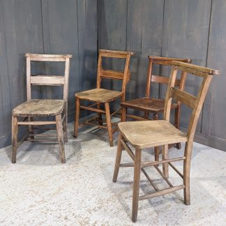 Harlequin Set of 4 'Classic' Different Coloured Church Chapel Chairs VI