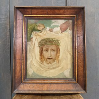 Exquisite Victorian Oil Painting 'Saint Veronica's Veil Supported by Angels' by W.Dyce or from his School