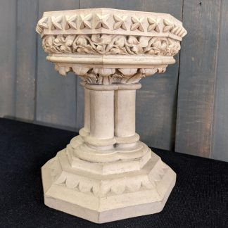 Very High Quality Antique Coade Stone Baptismal Church Table Font