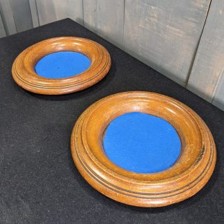 Turned Oak 1930's Vintage Church Collection Plates from Bournemouth