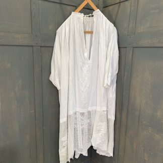Very Large White Linen Alb with Lace Detail