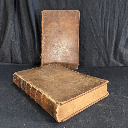 Herries 1780 Royal Universal Family Bible Leather Bound Two Large Volumes