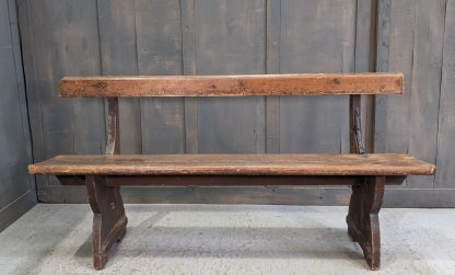 Simple Victorian Country Pine Bar Back Church Benches