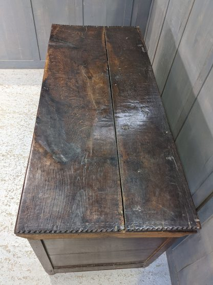 Extra Large & Tall 17th Century Carved Oak Coffer